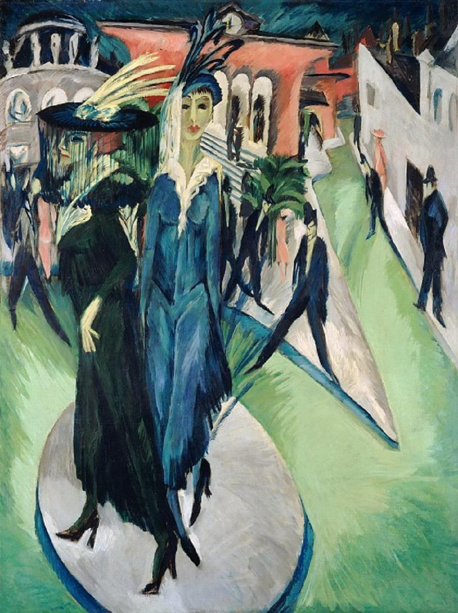 Эрнст Людвиг Кирхнер. «Потсдамская площадь», 1914