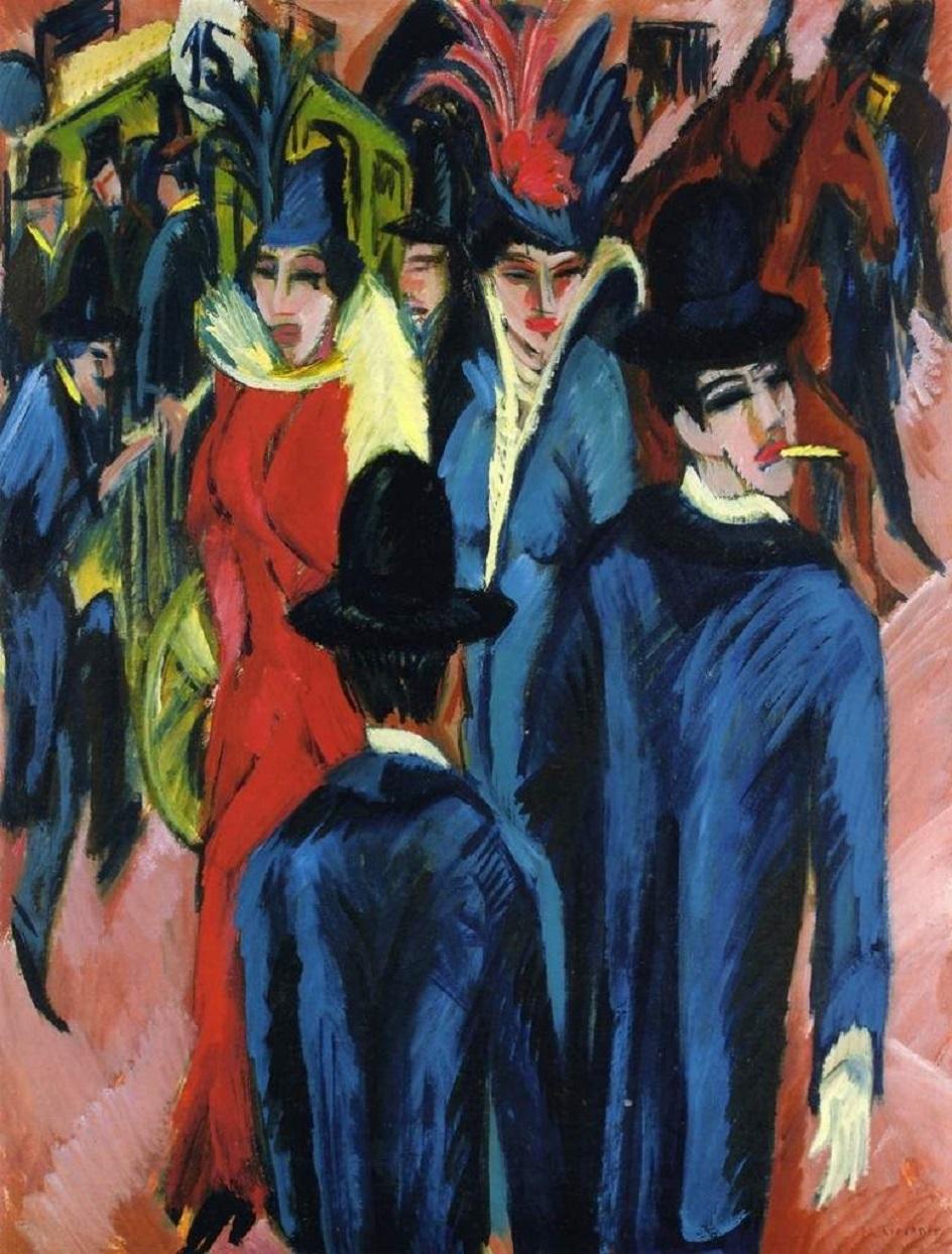 Эрнст Людвиг Кирхнер. «Уличная сценка в Берлине», 1914