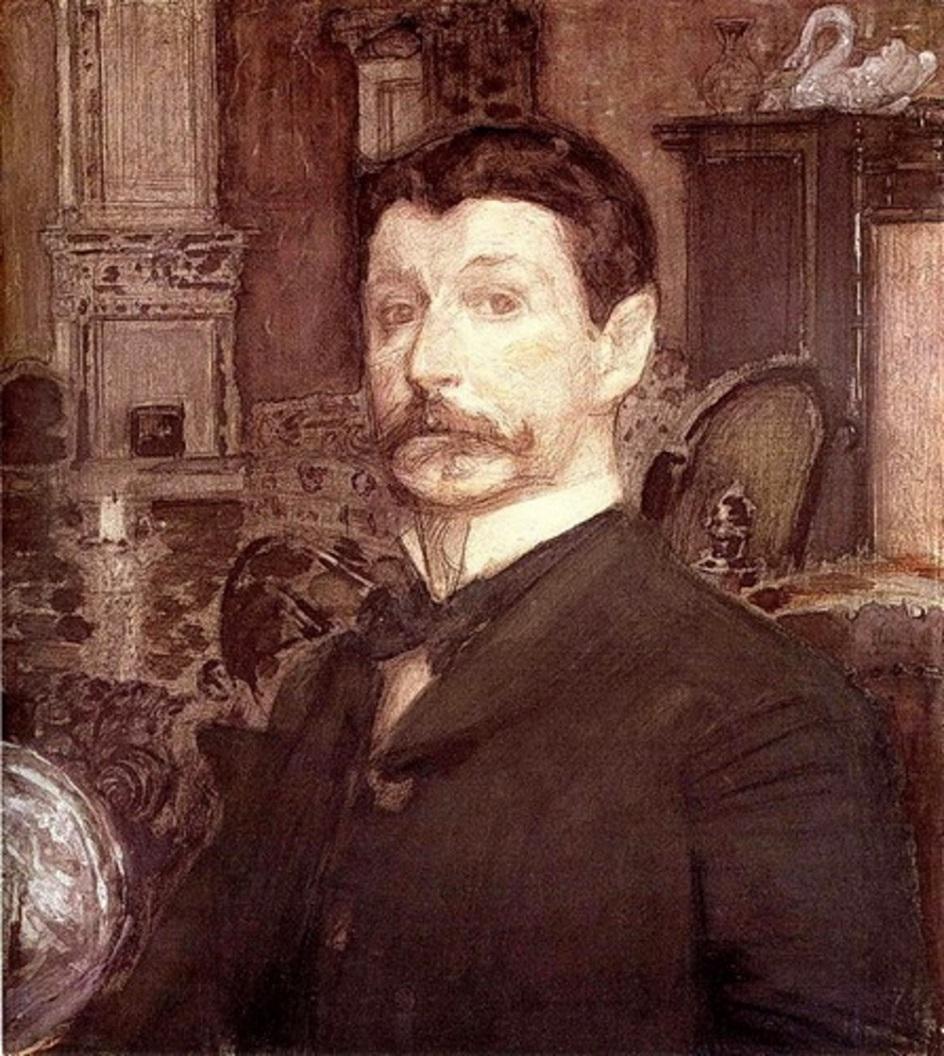 Михаил Врубель, «Автопортрет с жемчужной раковиной», 1905