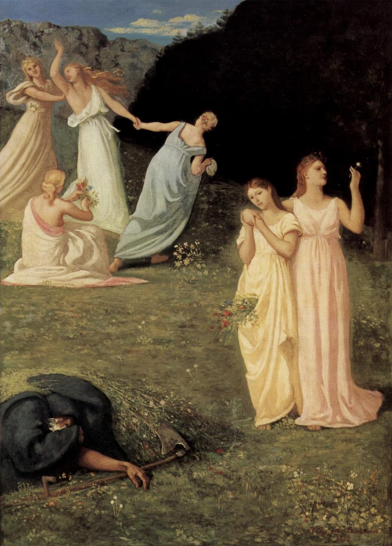 Символизм. Пьер Сесиль Пюви де Шаванн. «Смерть и девушки»