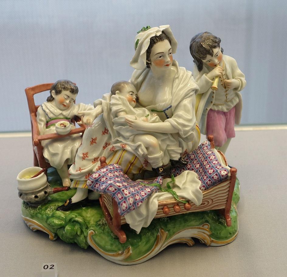 Фарфор Франкенталь. Скульптура «Хорошая мать», ок. 1765