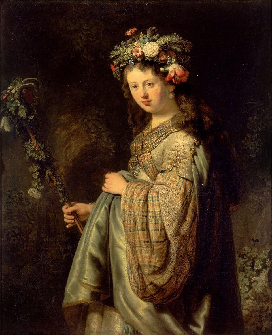 Весна на картинах. Рембрандт. «Флора», 1634