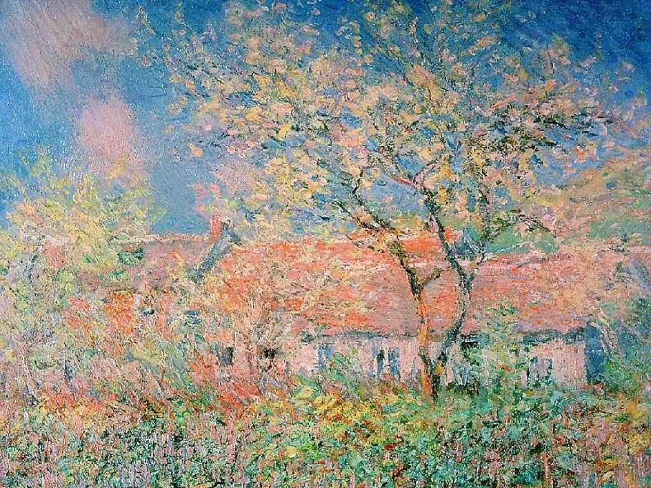 Весна на картинах. Клод Моне. «Весна в Живерни», 1886