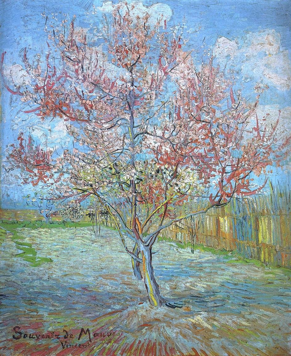 Весна на картинах. Винсент Ван Гог. «Персиковое дерево в цвету», 1888