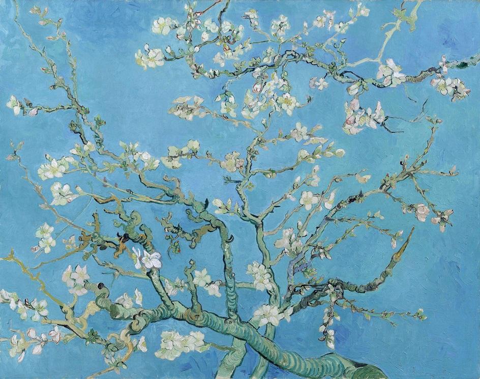 Весна на картинах. Винсент Ван Гог. «Ветки цветущего миндаля», 1890