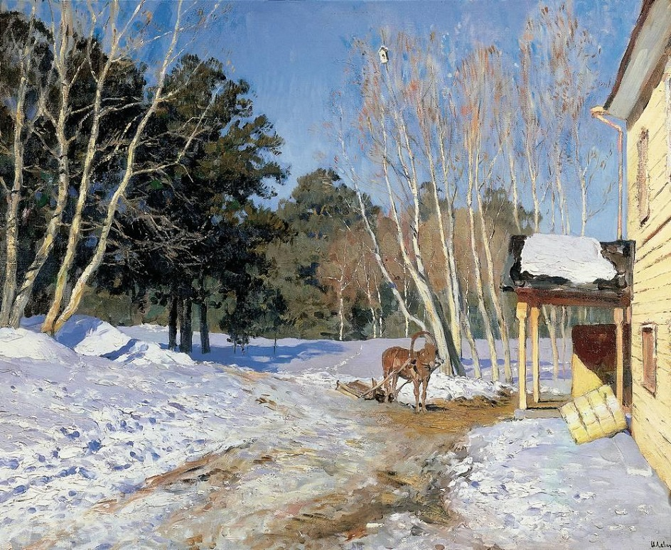 Весна на картинах. Исаак Левитан. «Март», 1895