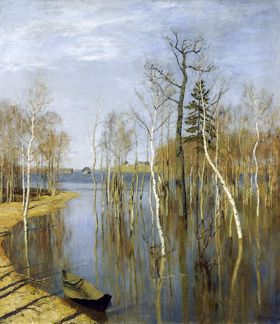 Весна на картинах. Исаак Левитан. «Весна. Большая вода», 1897