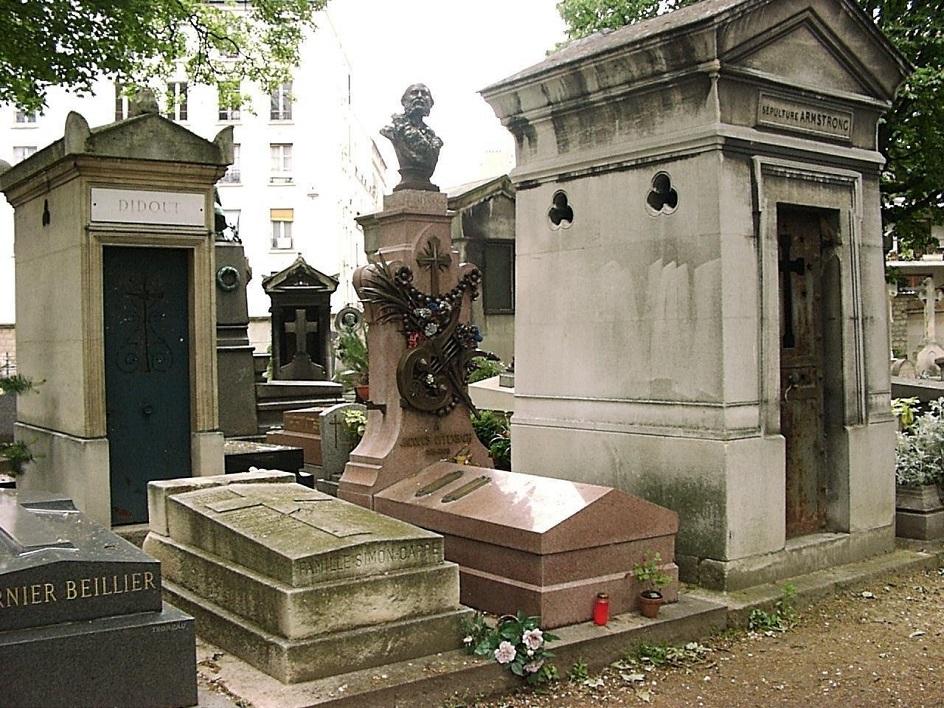 Шарль Гарнье. Могила Жака Оффенбаха на кладбище Монмартр, 1880