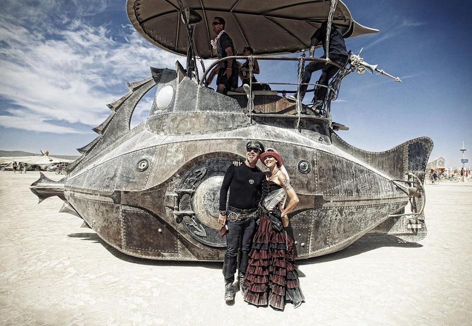 Стимпанк. Корабль «Наутилус» на фестивале Burning Man в стиле стимпанк