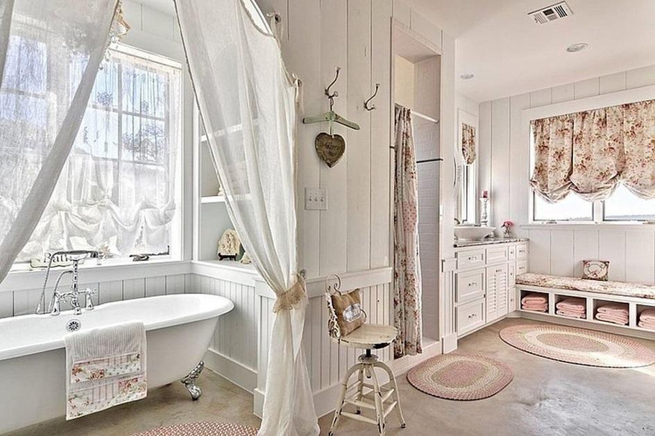 Прованс. Интерьер ванной комнаты в стиле прованс