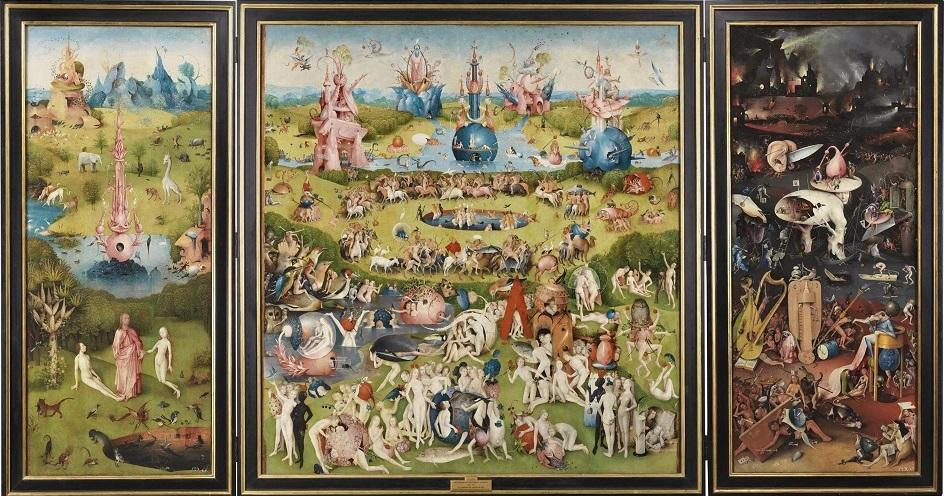 Сюрреализм. Иероним Босх. Триптих «Сад земных наслаждений»