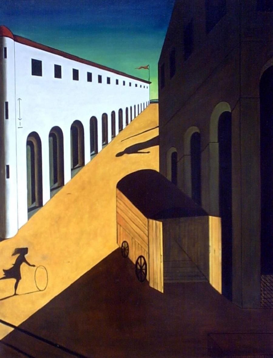 Сюрреализм. Джорджо де Кирико. «Меланхолия и мистерия улицы»