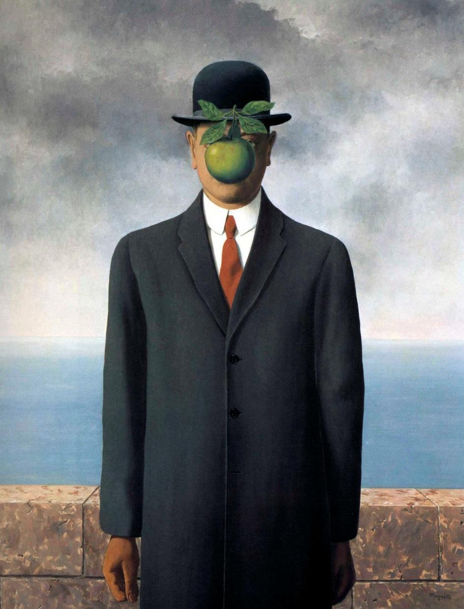 Сюрреализм. Рене Магритт. «Сын человеческий»