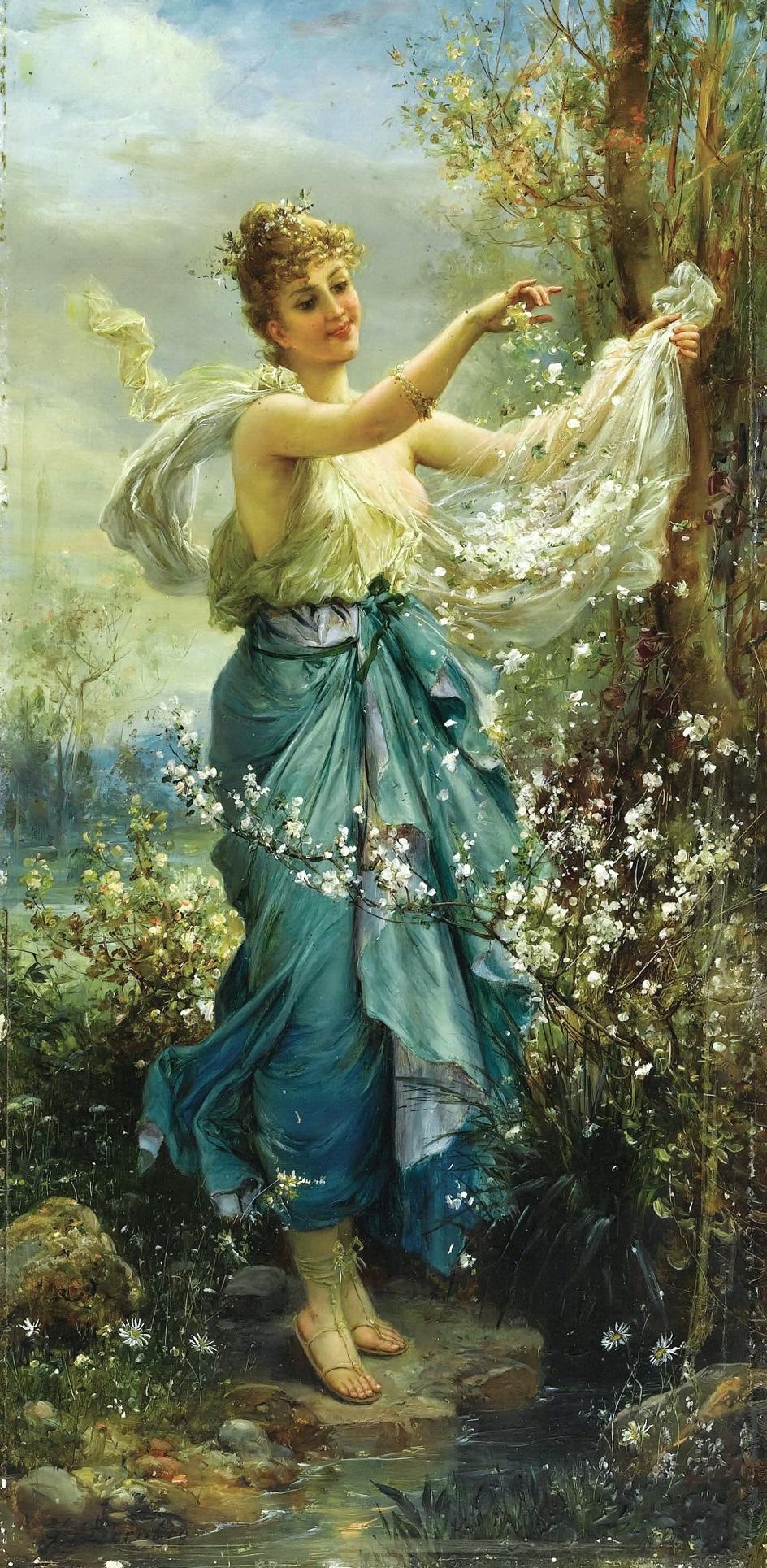 Ханс Зацка. «Девушка с цветами»