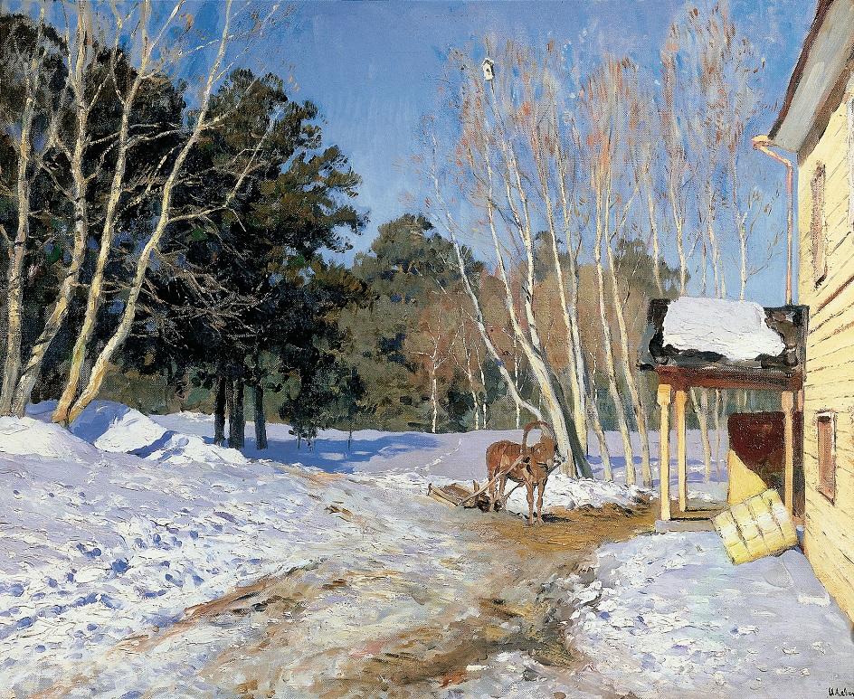 Картины русских художников о природе. Исаак Левитан. «Март»