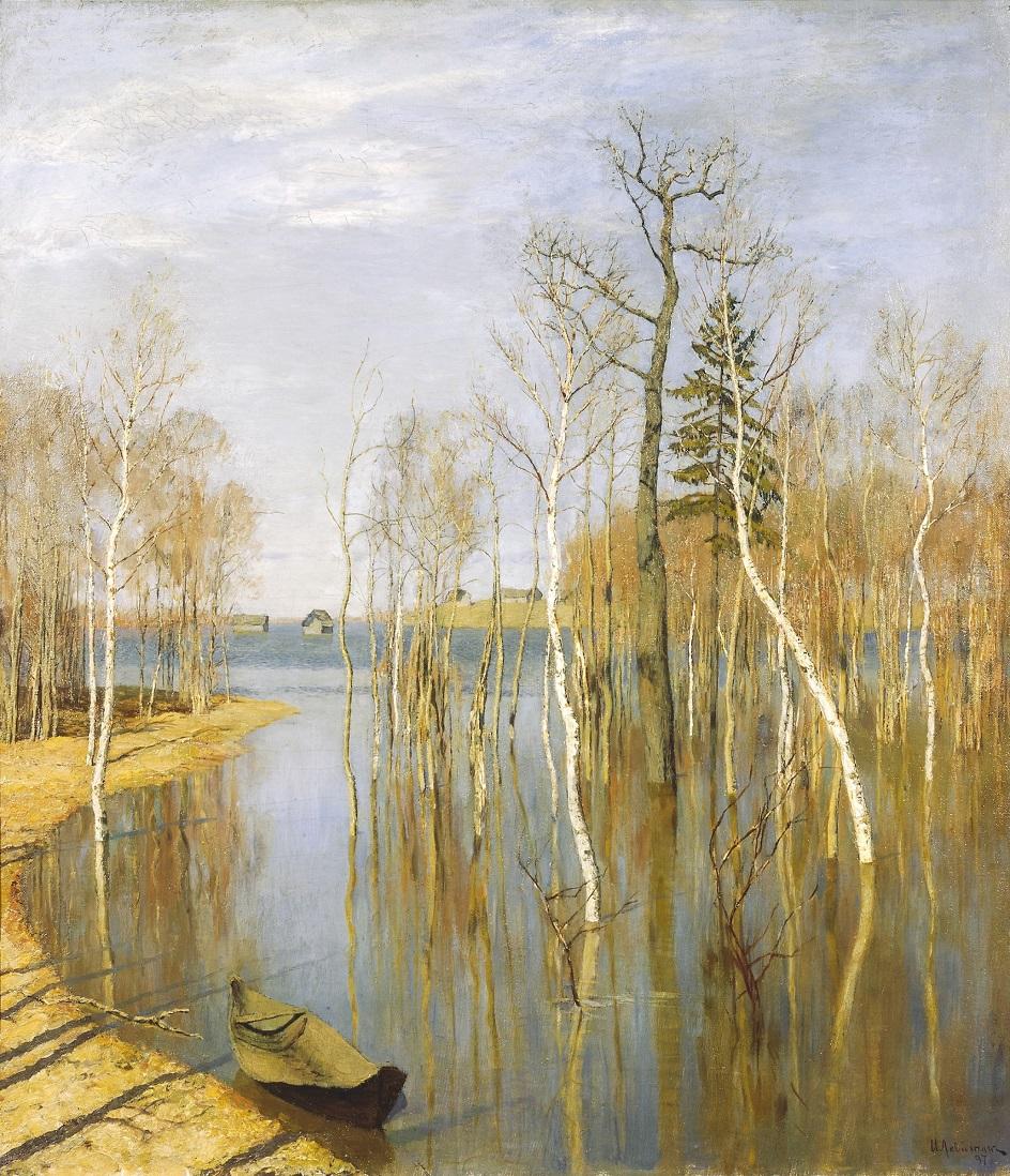 Картины русских художников о природе. Исаак Левитан. «Весна. Большая вода»