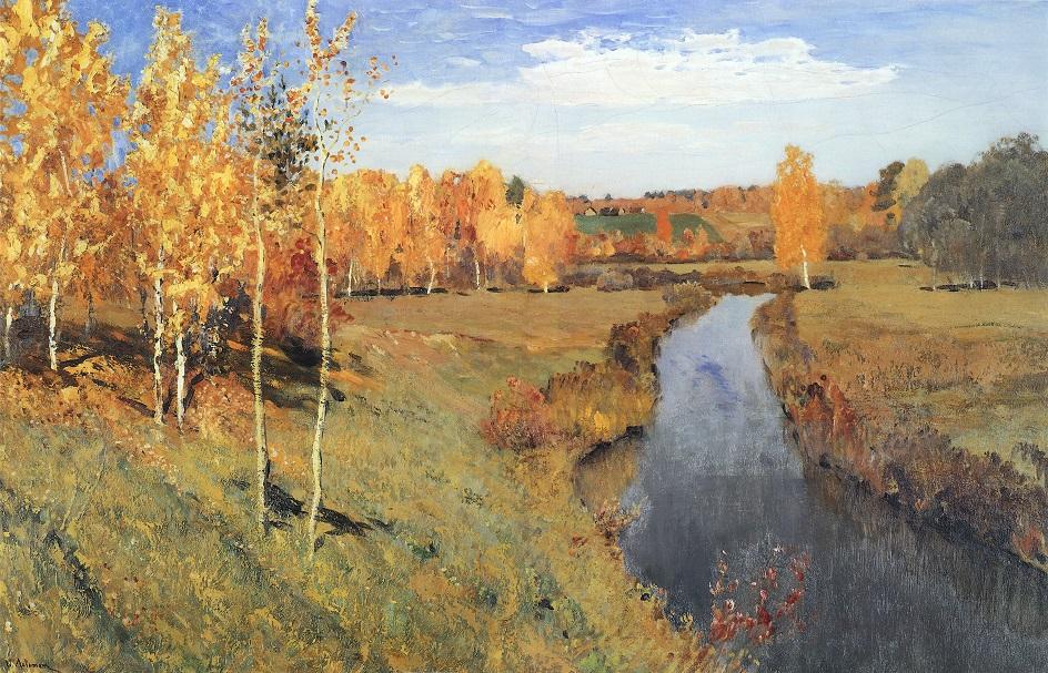 Картины русских художников о природе. Исаак Левитан. «Золотая осень»