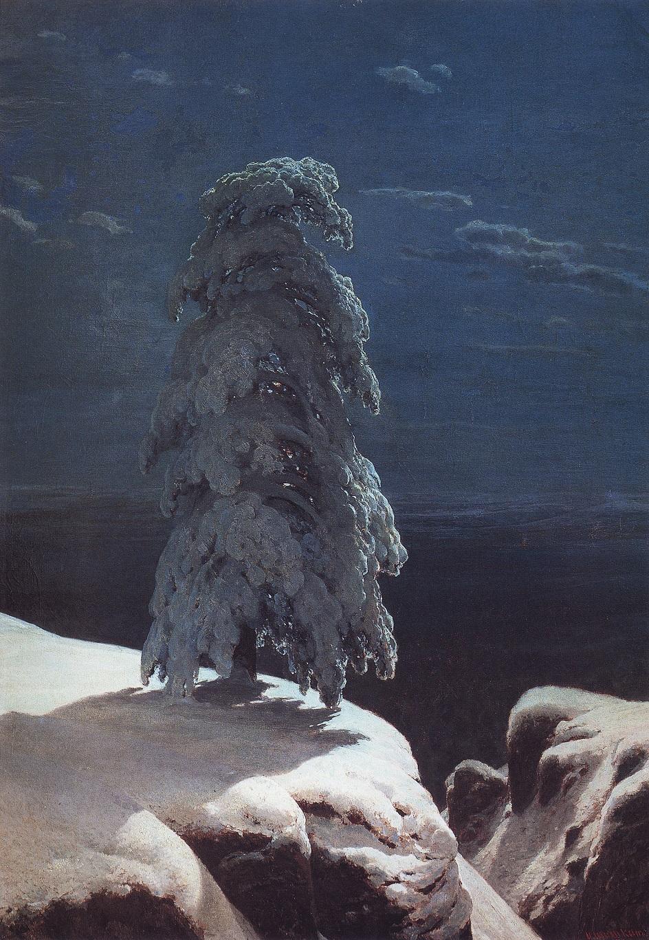 Картины русских художников о природе. Иван Шишкин. «На севере диком…»