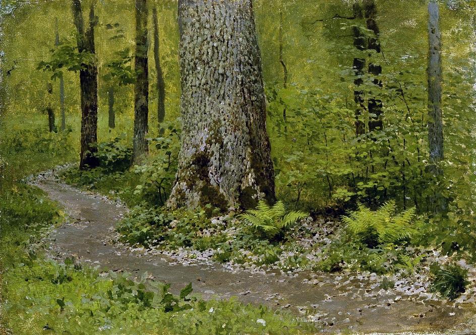 Картины русских художников о природе. Исаак Левитан. «Тропинка в лиственном лесу»