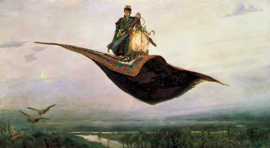 Картины русских художников о природе. Виктор Васнецов. «Ковёр-самолёт»