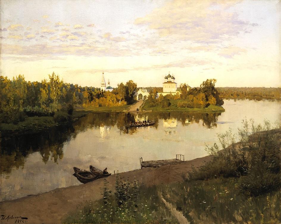 Река на картинах известных художников. Исаак Левитан. «Вечерний звон»
