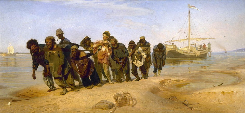 Река на картинах известных художников. Илья Репин. «Бурлаки на Волге»