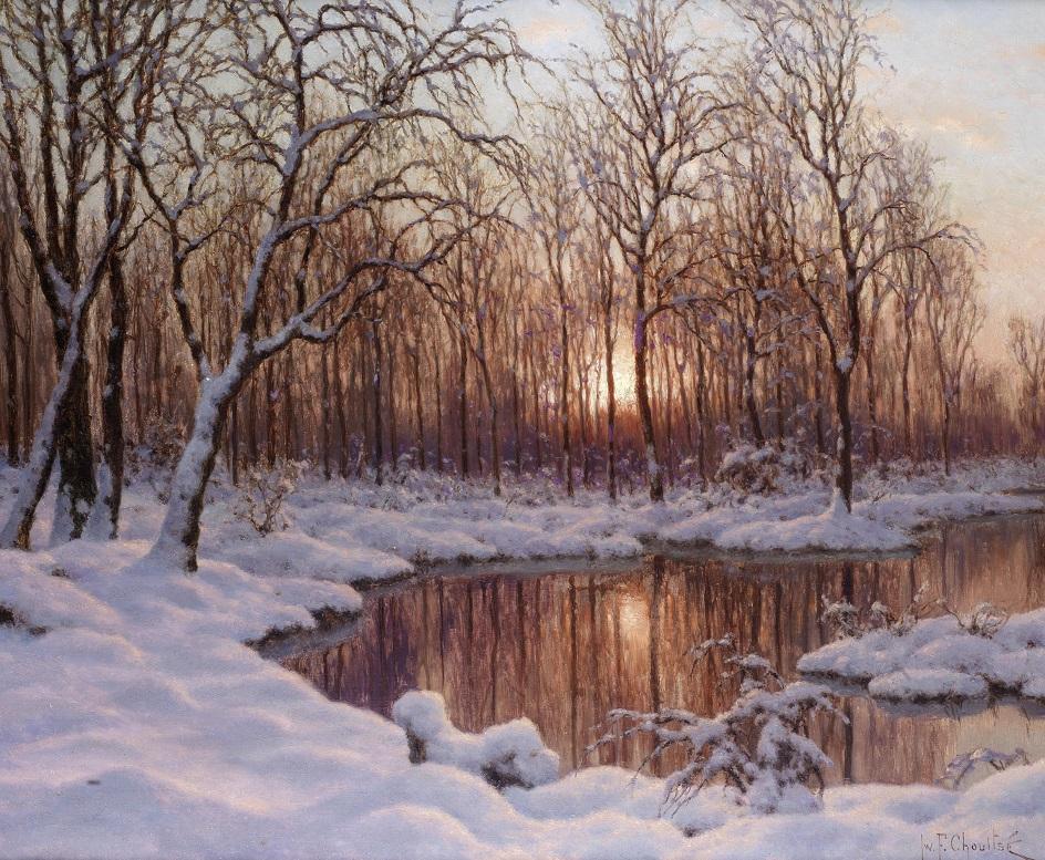 Река на картинах известных художников. Иван Шультце. «Ноябрь»