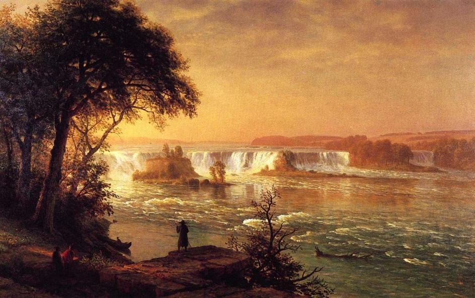 Река на картинах известных художников. Альберт Бирштадт. «Водопады Сан-Антонио» («Водопады Сан-Антонио»)