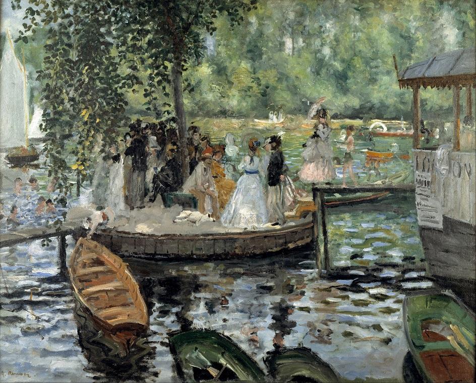 Река на картинах известных художников. Пьер Огюст Ренуар. «Лягушатник»
