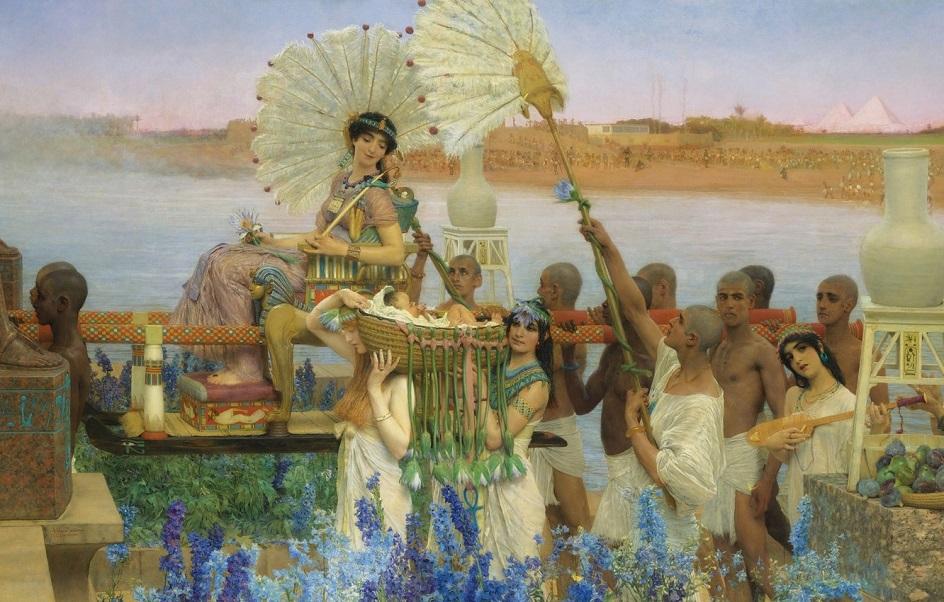 Река на картинах известных художников. Лоуренс Альма-Тадема. «Обретение Моисея»