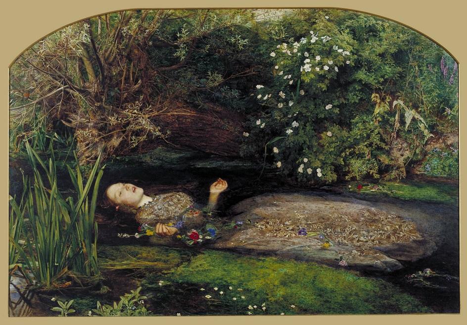 Река на картинах известных художников. Джон Эверетт Милле. «Офелия»