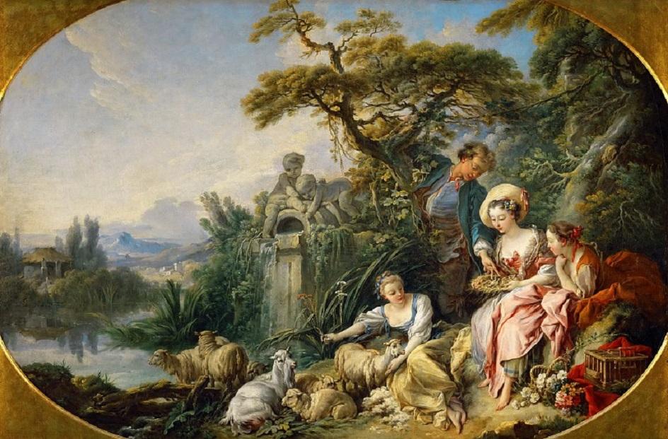 Река на картинах известных художников. Франсуа Буше. «Гнездо»