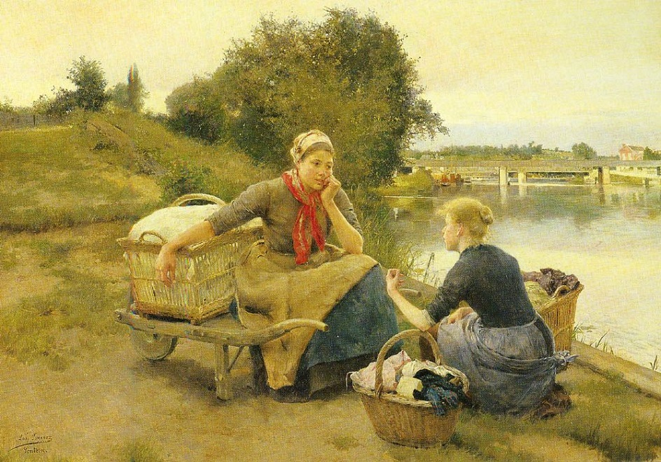 Река на картинах известных художников. Луис Хименес Аранда. «Прачки на берегу реки»