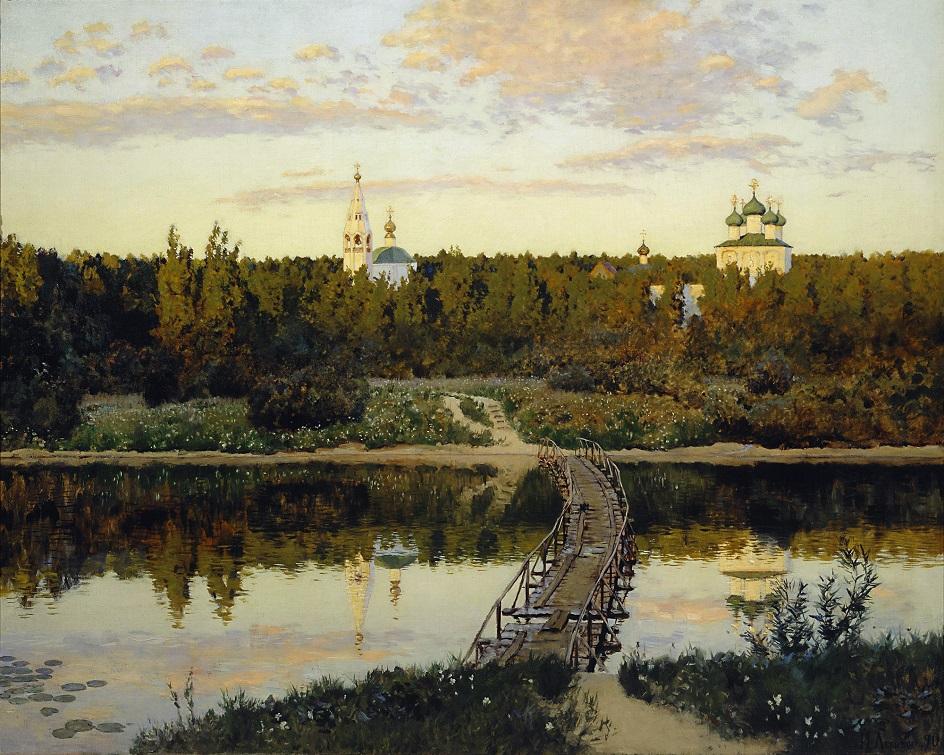 Река на картинах известных художников. Исаак Левитан. «Тихая обитель»