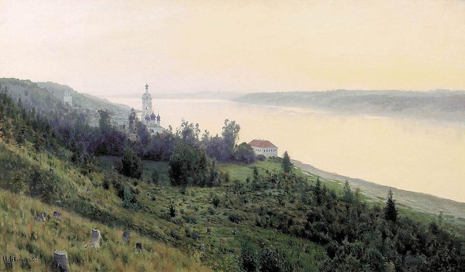 Река на картинах известных художников. Исаак Левитан. «Вечер. Золотой плёс»