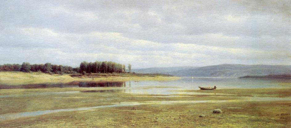 Река на картинах известных художников. Михаил Клодт. «Волга у Жигулей»