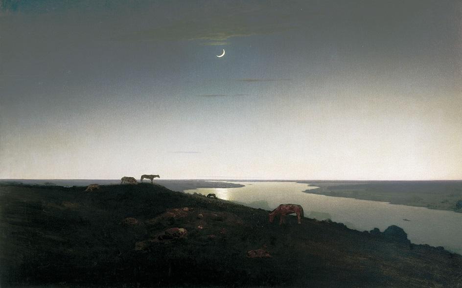 Река на картинах известных художников. Архип Куинджи. «Ночное»