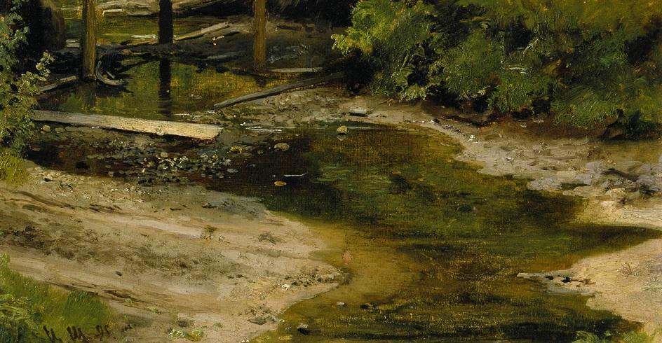 Река на картинах известных художников. Иван Шишкин. «Лесная речка»