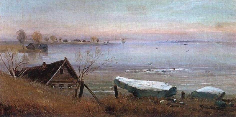 Река на картинах известных художников. Алексей Саврасов. «Весна. На большой реке»