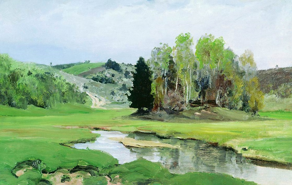 Река на картинах известных художников. Василий Поленов. «Речка Свинка близ Алексина»