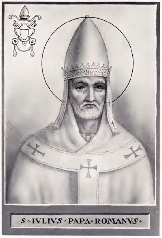 Рождество в Англии. Папа Юлий I