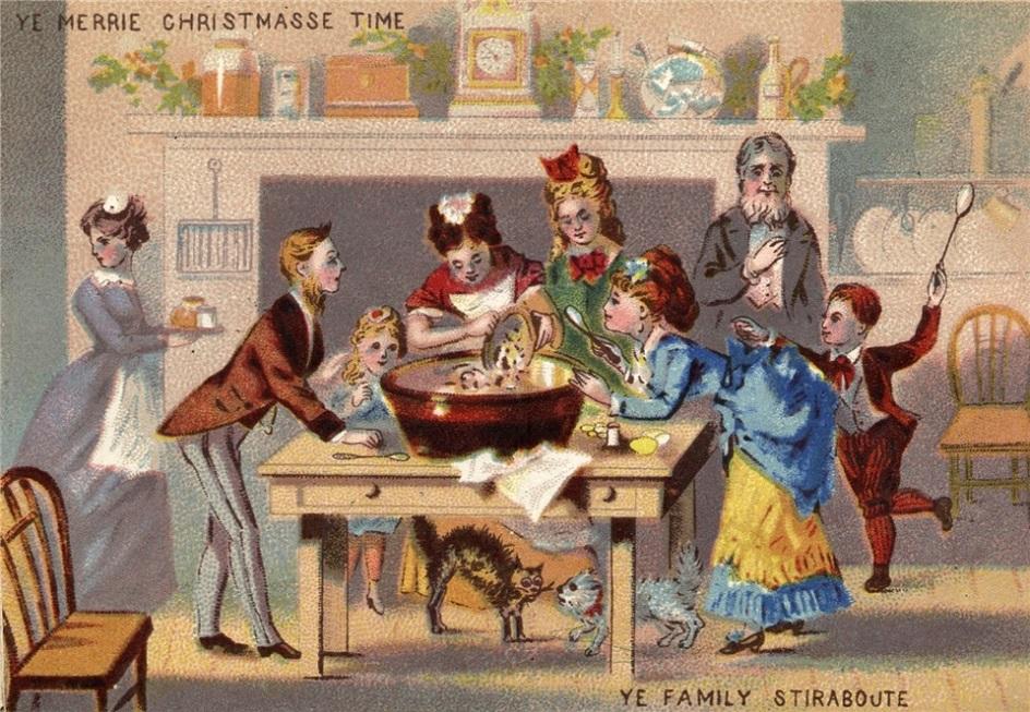 Рождество в Великобритании. Викторианская рождественская открытка