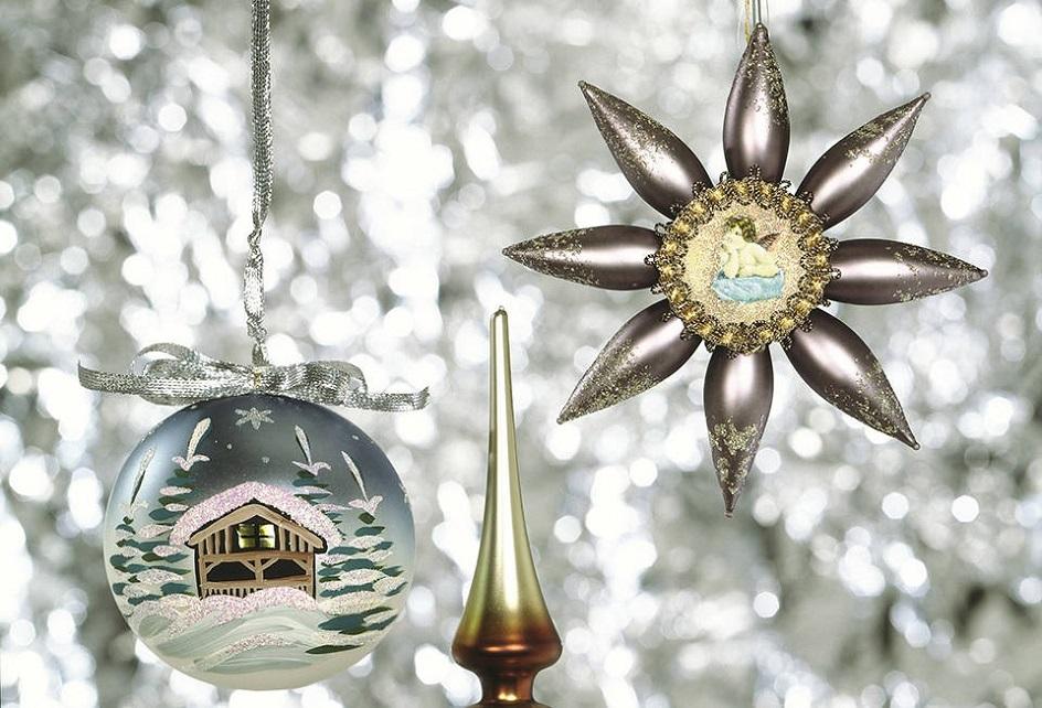 Рождество в Великобритании. Стеклянные елочные украшения. Музей Альберта и Виктории