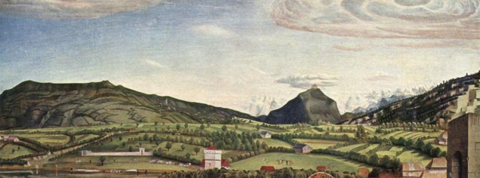 Горы на картинах известных художников. Конрад Виц. «Горный пейзаж»