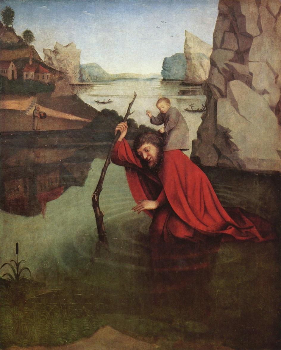 Горы на картинах известных художников. Конрад Виц. «Святой Христофер» (Хождение по горам вокруг Женевского озера)