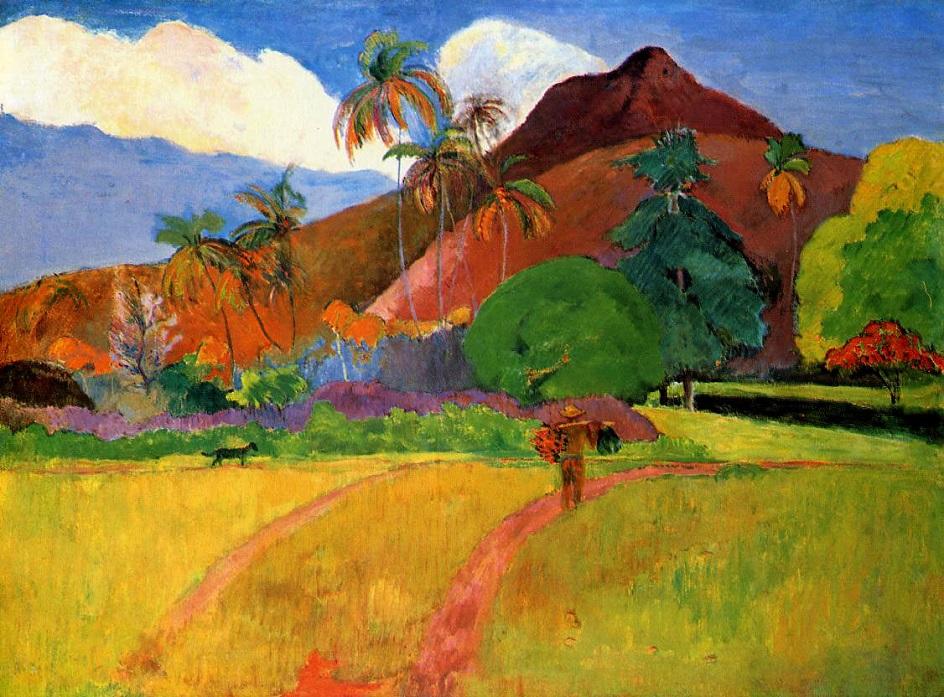 Горный пейзаж. Поль Гоген. «Таитянские горы»