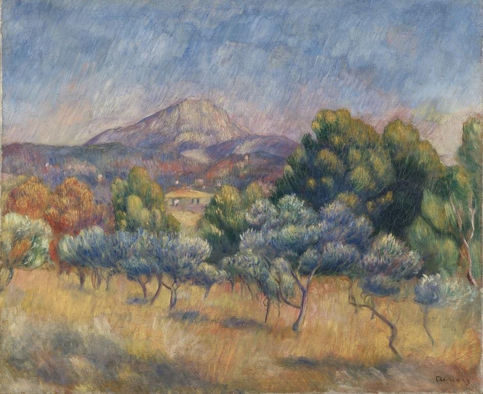 Горы на картинах известных художников. Пьер-Огюст Ренуар. «Гора Сент-Виктуар»