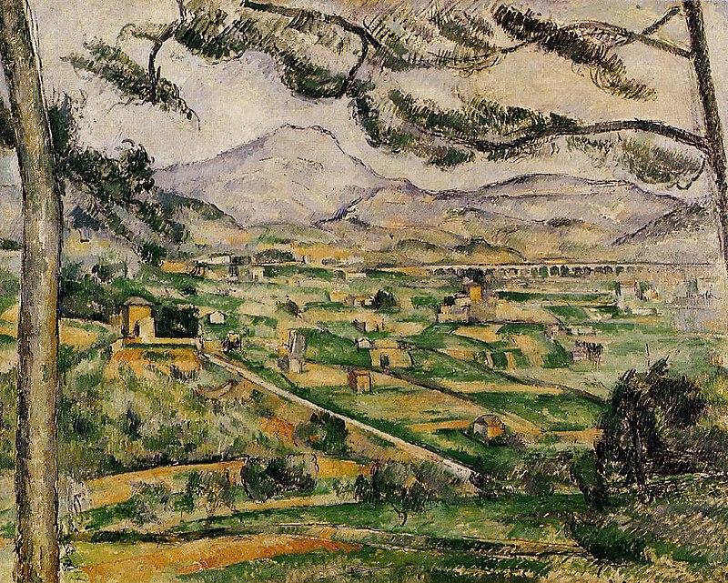 Горы на картинах известных художников. Поль Сезанн. «Гора Сент-Виктуар с большой сосной»