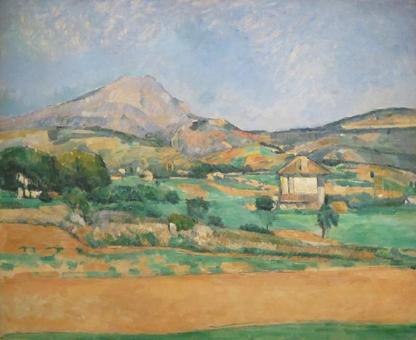 Горы на картинах известных художников. Поль Сезанн. «Равнина перед горой Сент-Виктуар»
