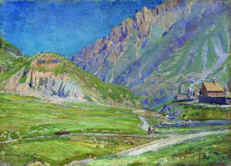 Горы на картинах известных художников. Аполлинарий Васнецов. «Горный пейзаж»
